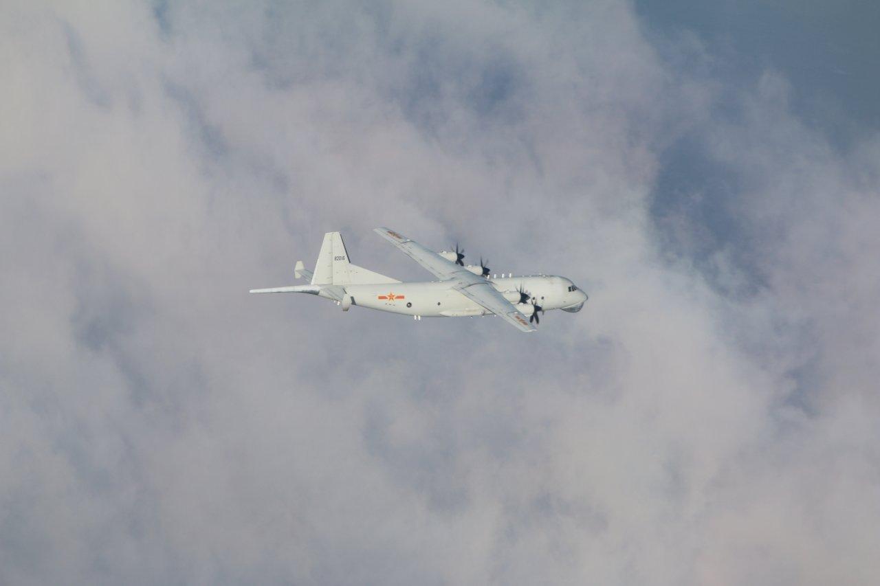 共軍1架次運8反潛機擾台 空軍兵力應對