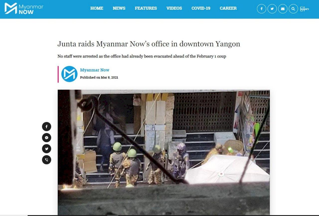 軍政府打壓媒體 緬甸記者四處躲藏冒死傳遞訊息