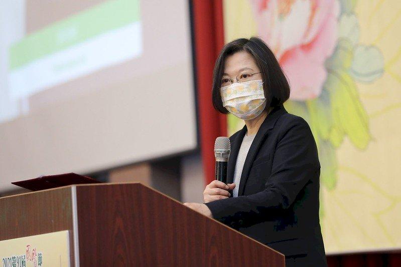 蔡總統出席國醫節大會 肯定「清冠一號」熱銷歐美