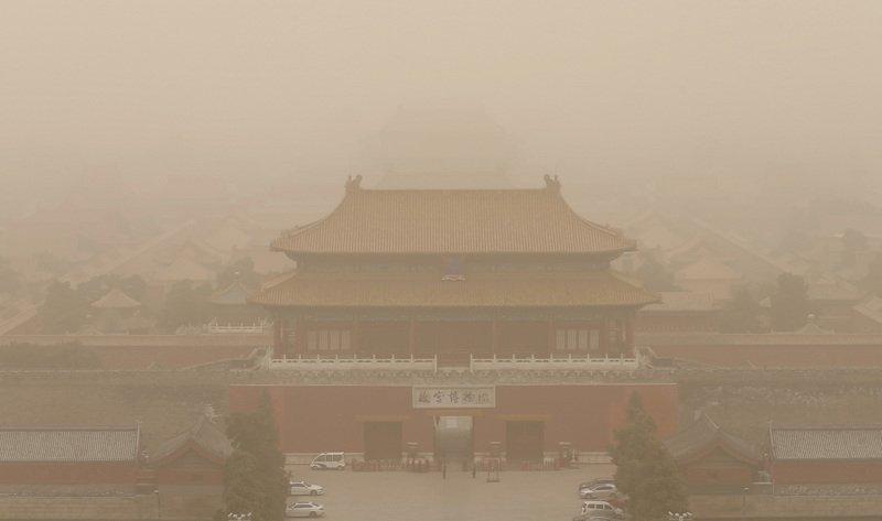 五一長假結束 中國北方又現沙塵暴