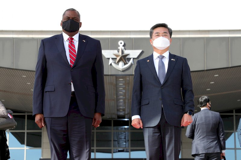 美防長:印太地區面臨威脅 韓日關係至關重要