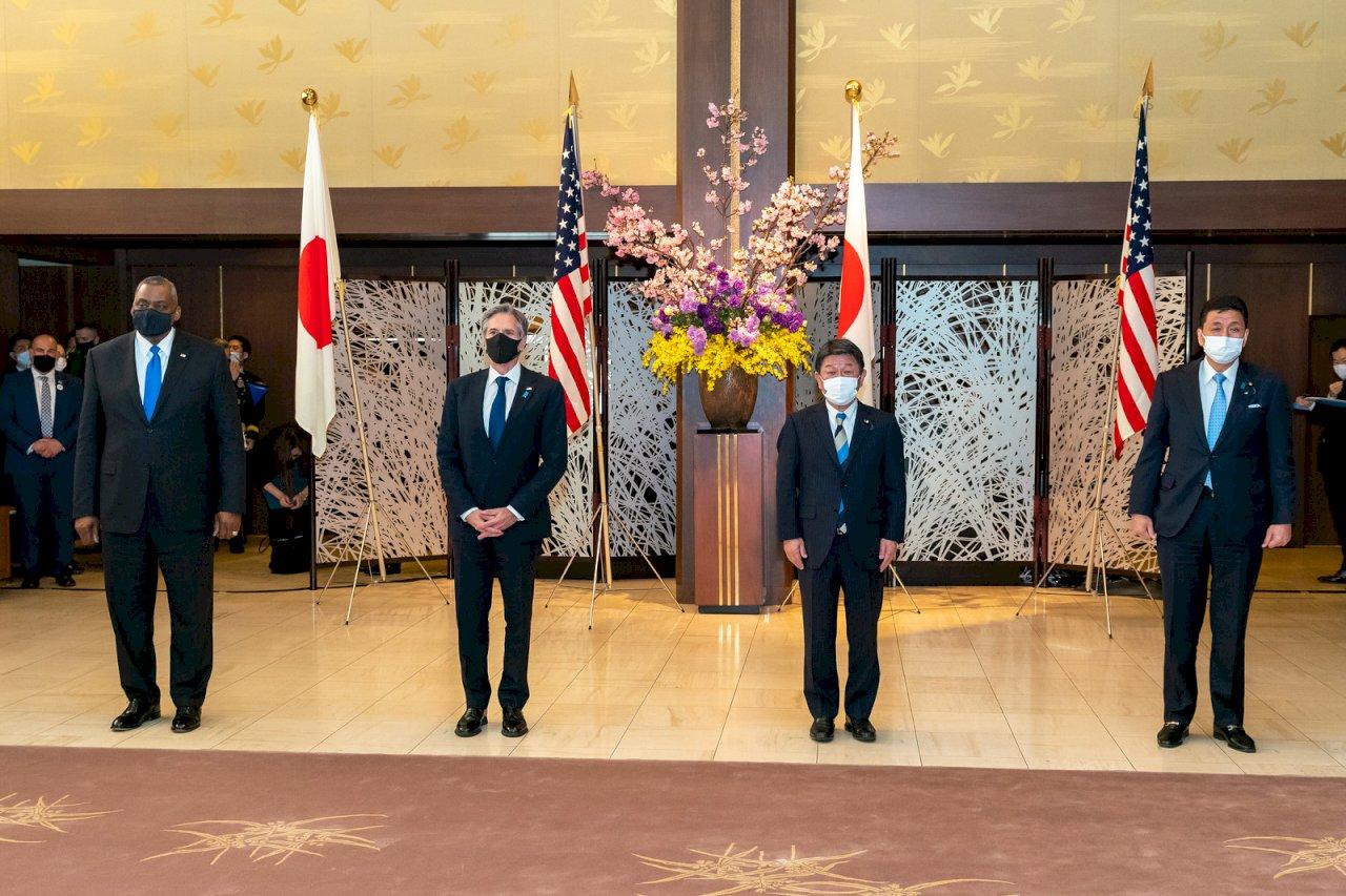 美日2+2會談發布強硬聯合聲明 公開譴責中國違背國際秩序