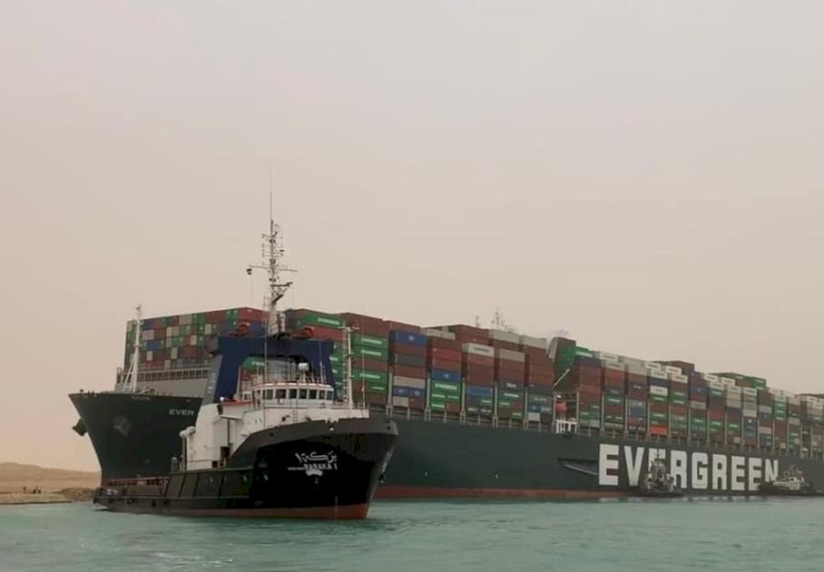 長賜輪卡蘇伊士運河 埃及求償金額降至5.5億美元