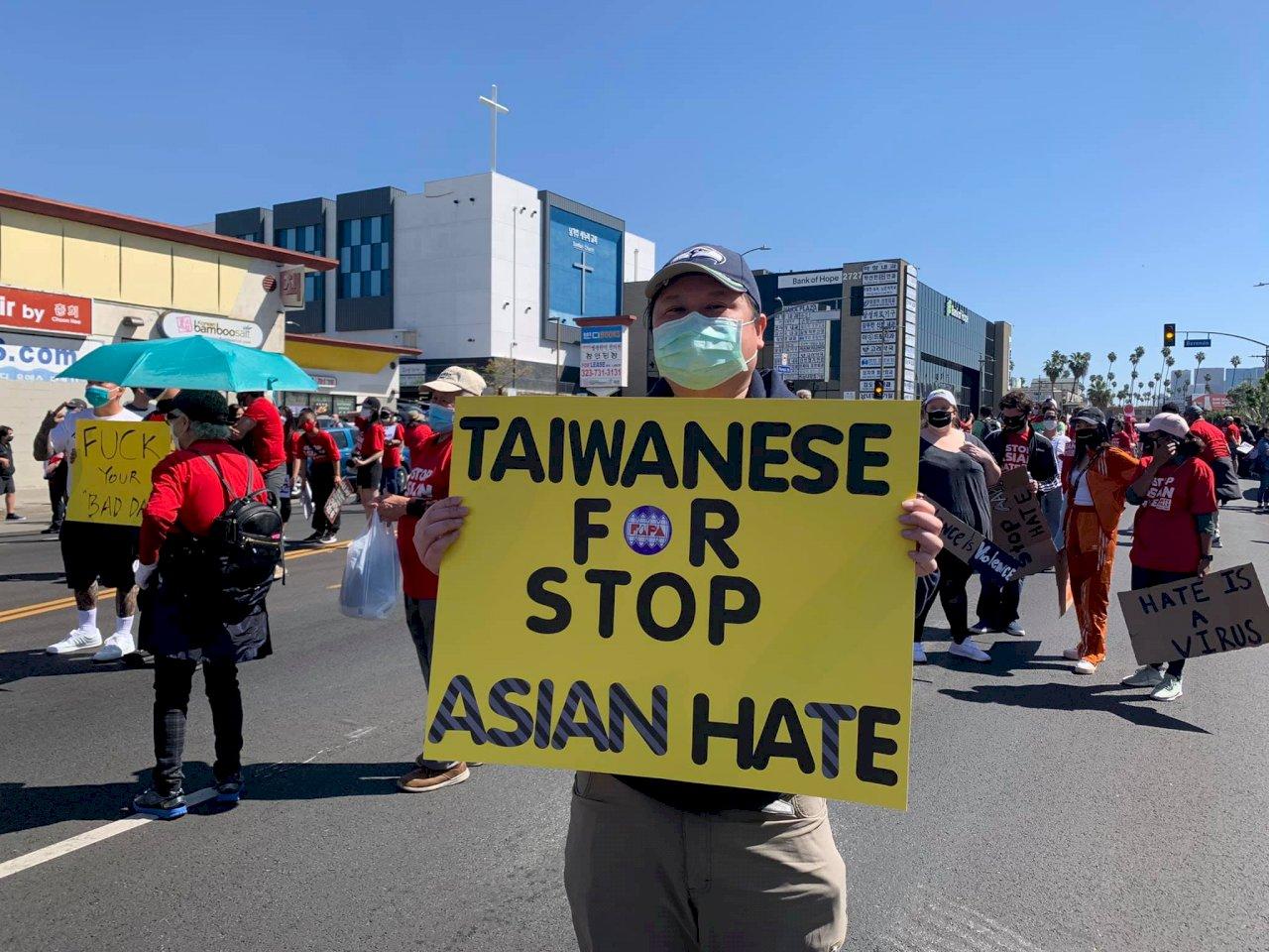 洛杉磯亞裔示威 FAPA洛杉磯分會副會長吳兆峯:30年來首見亞裔大團結