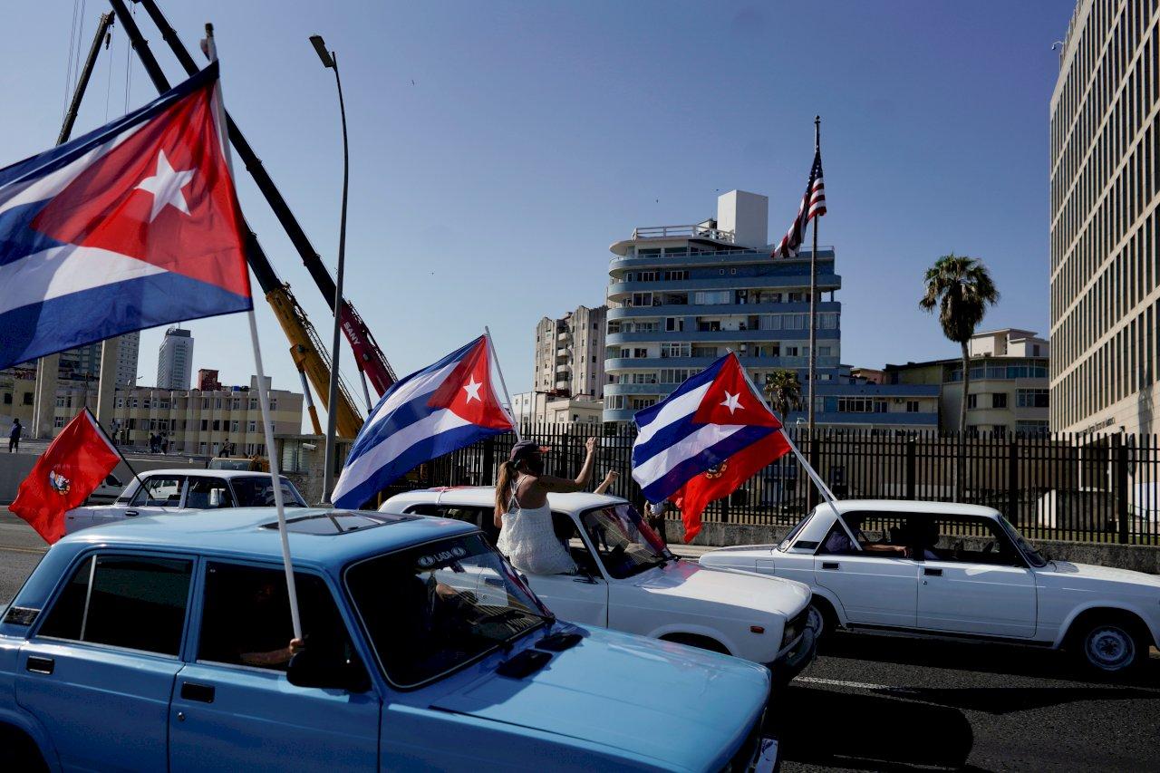 古巴車隊遊行 抗議美國貿易禁運與制裁