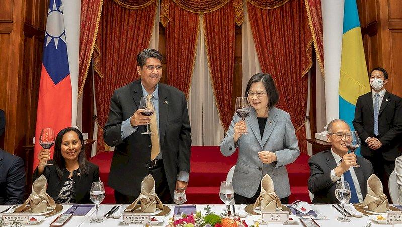 美駐帛琉大使出席晚宴 蔡總統:台帛美強化合作