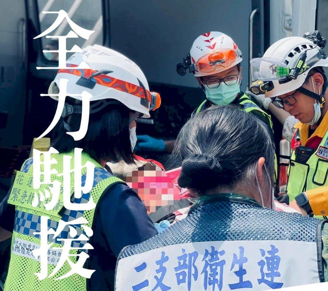 太魯閣號事故 國軍第二作戰區逾百人投入搶救
