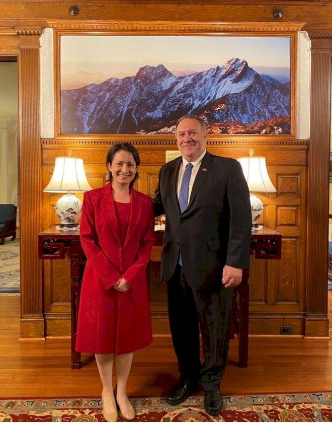 前國務卿蓬佩奧赴雙橡園訪蕭美琴 強調任內面對龐大壓力挺台不退縮