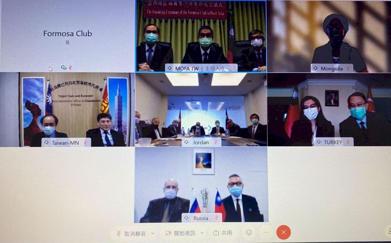 外交部:福爾摩沙俱樂部擴及亞西 增11國友台議員