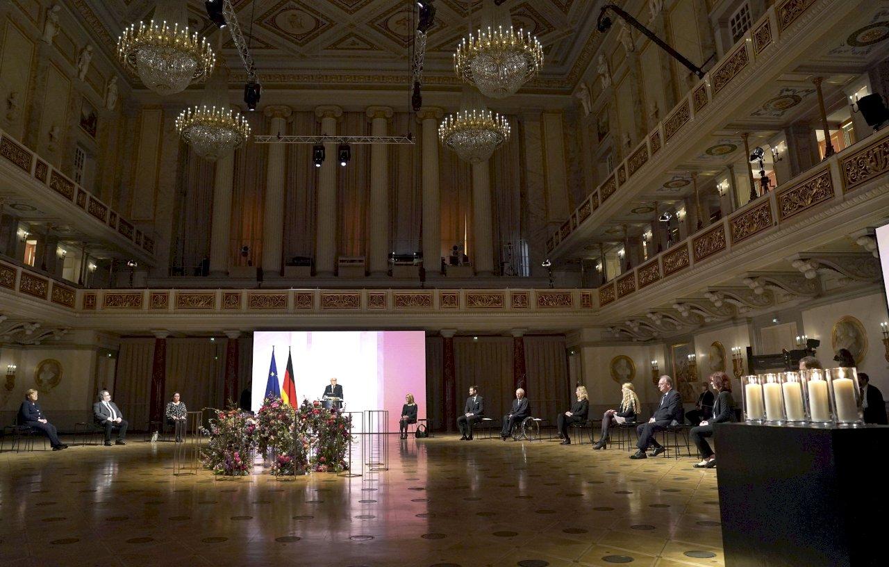 德國舉行全國追悼會 追思8萬名染疫病逝者