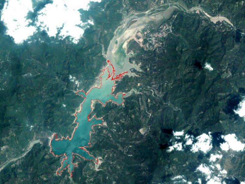中大衛星遙測監測蓄水量 曾文水庫水位嚴重下降