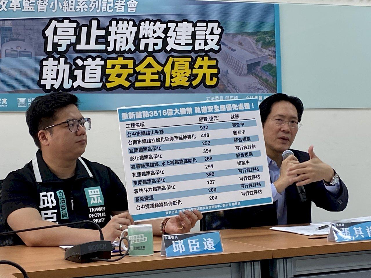 王國材接交通部長 民眾黨團期許:扛起台鐵改革重任