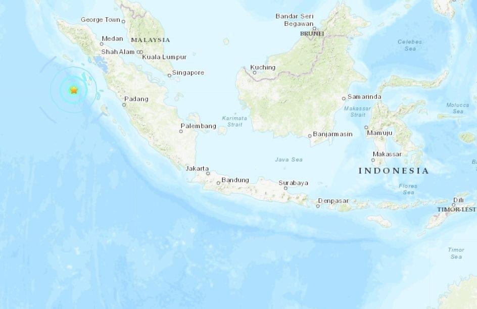 印尼尼亞斯規模5.9地震 震源深度僅2公里