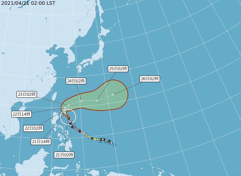 舒力基降為中颱  西半部溫暖東半部局部雨