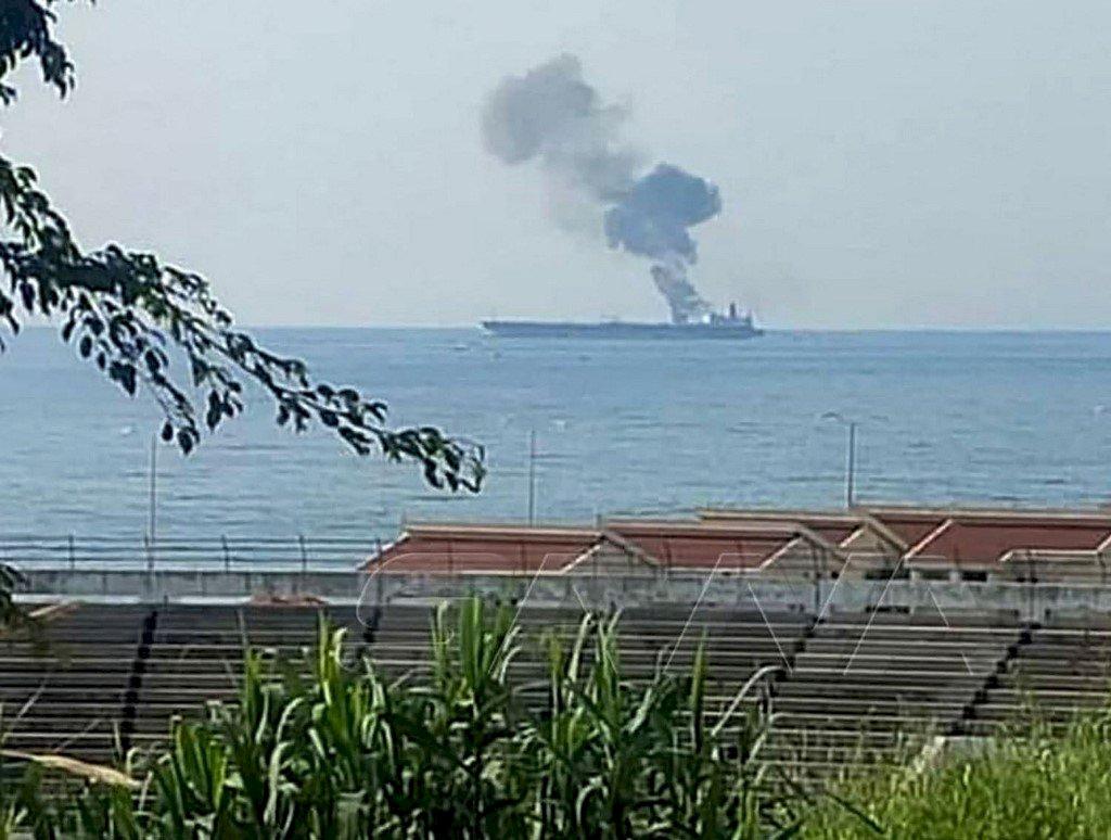 敘利亞外海油輪起火 疑似遭無人機攻擊