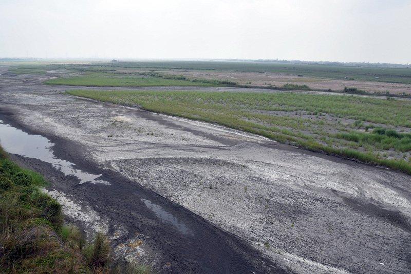 台灣第一長河濁水溪 乾旱造成斷流