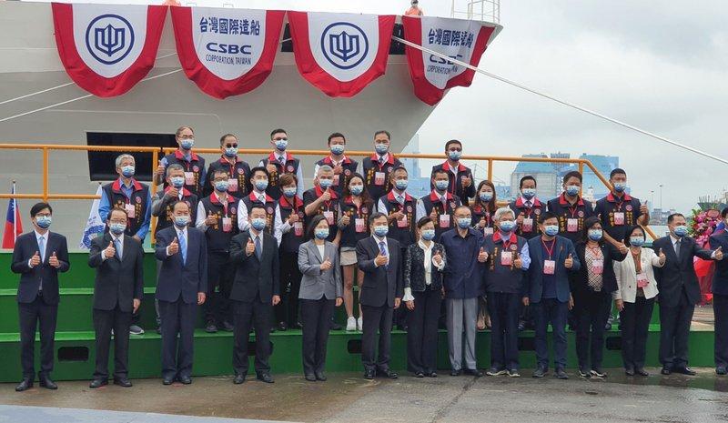 海巡艦艇增台灣字樣 總統:展現中華民國台灣捍衛藍色國土決心