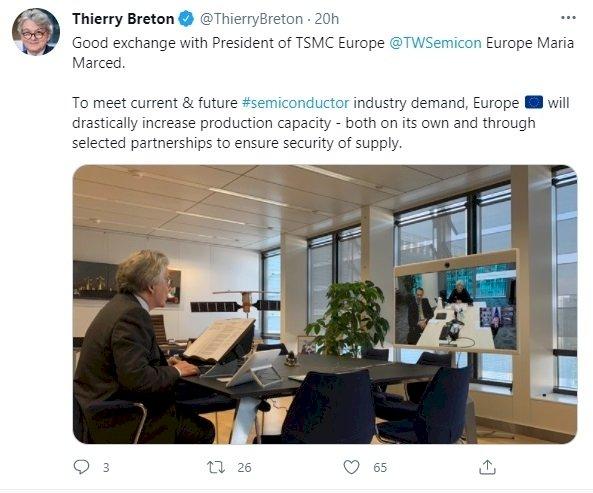 歐盟邀建半導體聯盟 台積電這樣説
