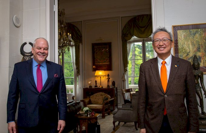 台美斷交後首次 駐法代表受邀進入美國駐外使館