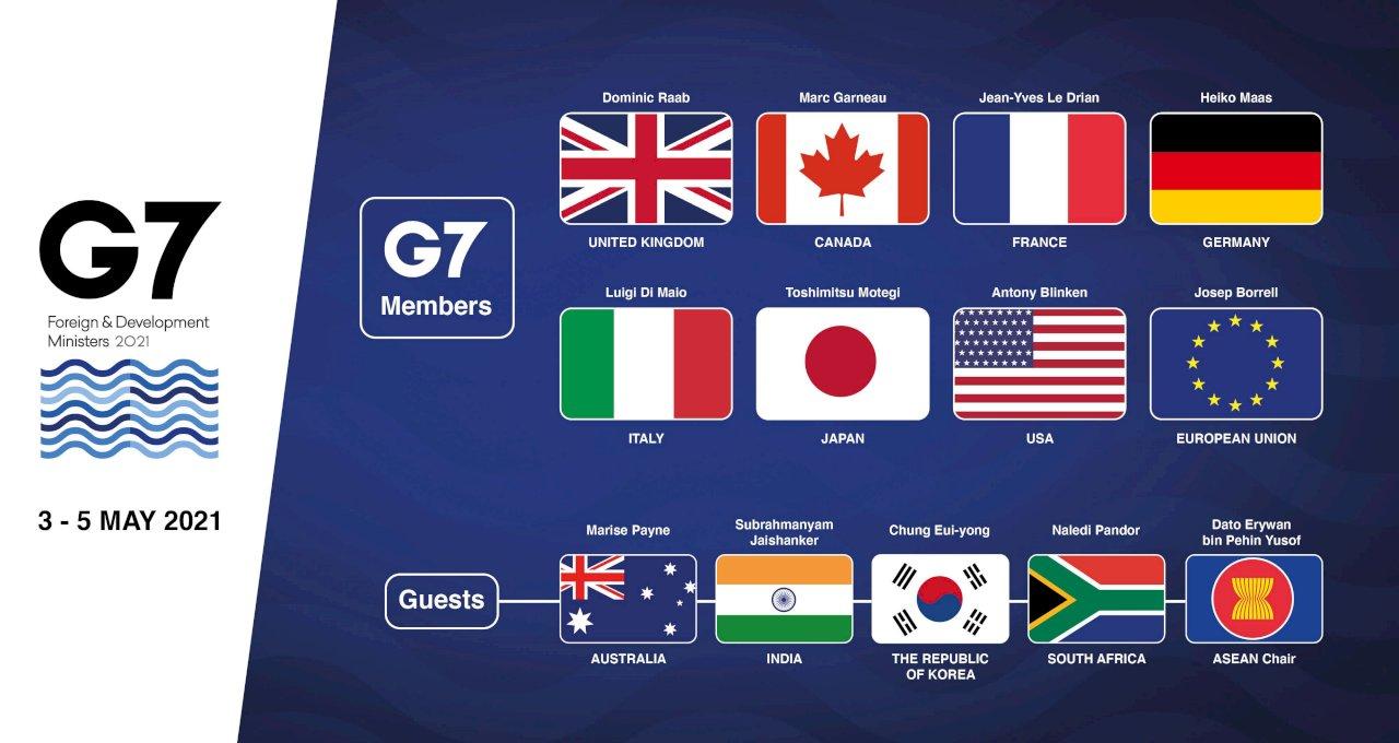 應對強硬的中國 G7外長要組共同陣線