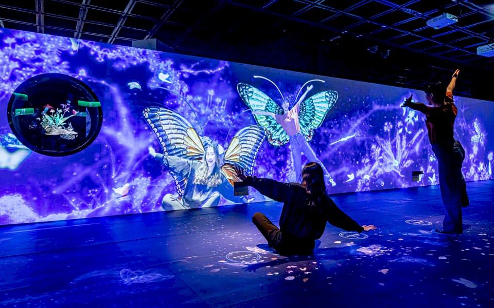 故宮「魔幻山水歷險」數位展 用AI揣摩梵谷版富春山居圖