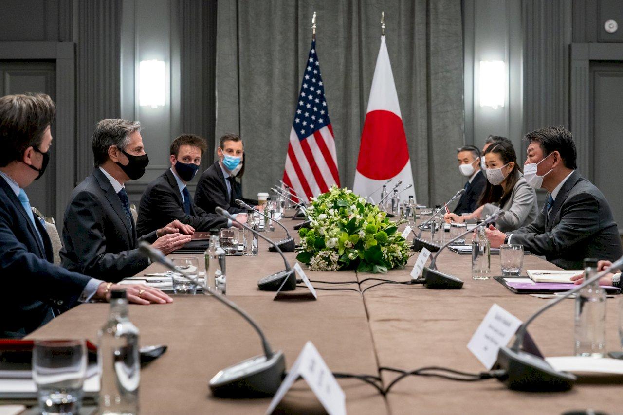 美日外長同意加強合作制中 重申台海和平重要性