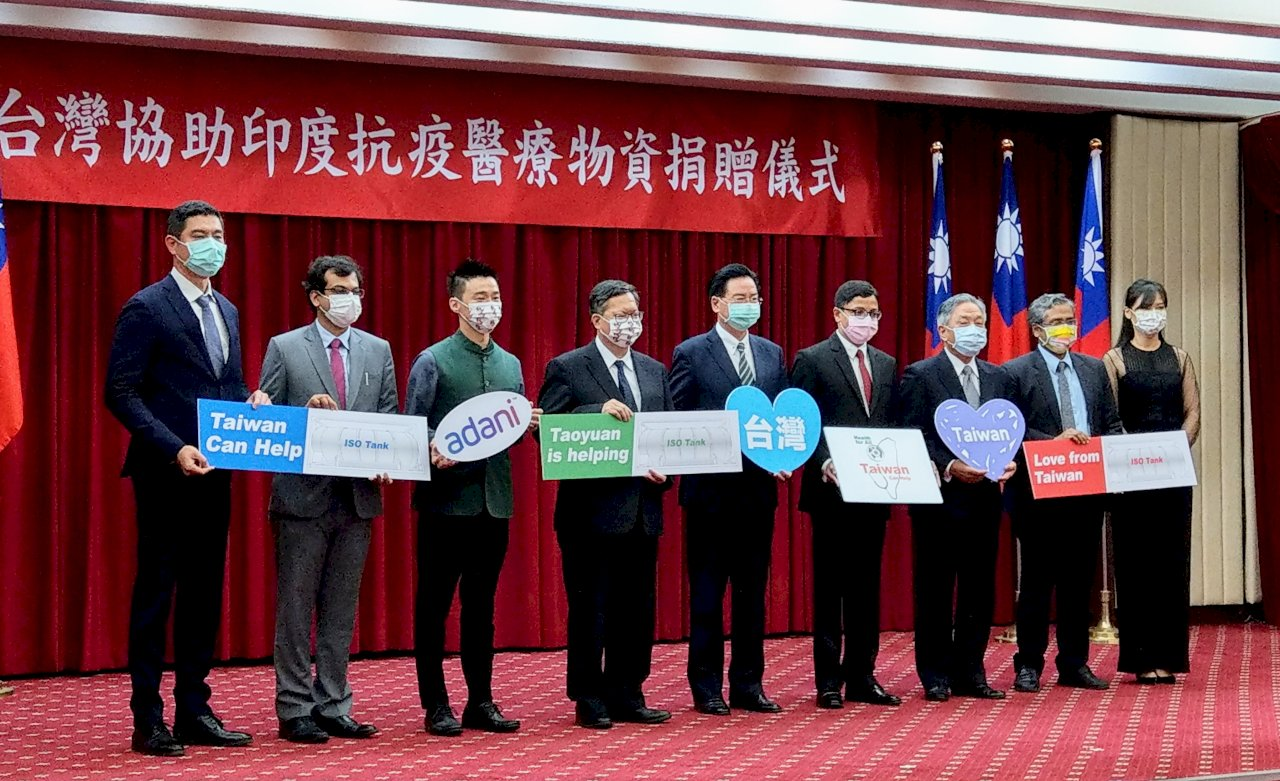 台商捐贈抗疫物資 印度駐台代表:見證「Taiwan Can Help」