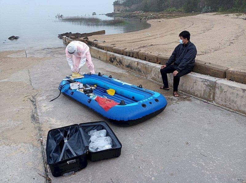 5天內第2起 中國男子駕橡皮艇偷渡金門
