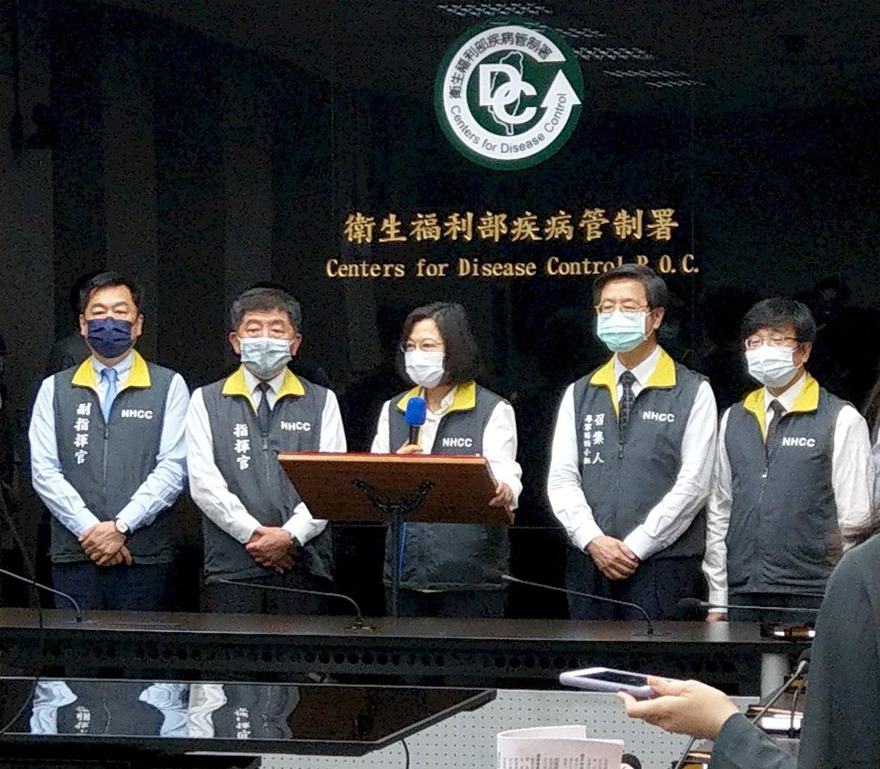 慰勉防疫團隊 總統:同舟共濟 共度此次疫情挑戰