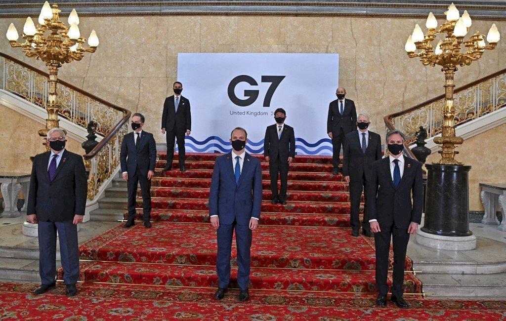 G7外長公報批中國霸凌 挺台灣參與WHO論壇