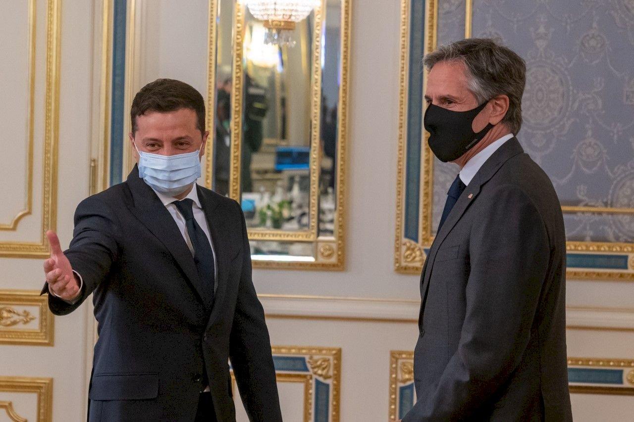 布林肯訪烏克蘭  表達美國力挺