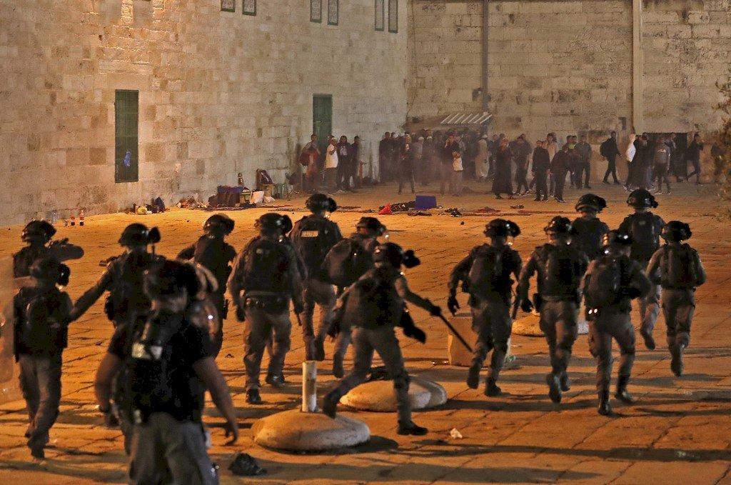 耶路薩冷神聖之夜不平靜 以巴連兩晚爆發警民衝突