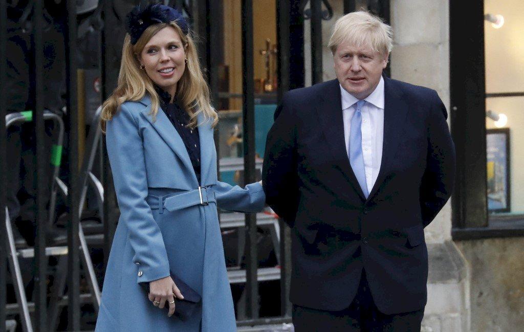 英國首相強生 29日與未婚妻秘密完婚