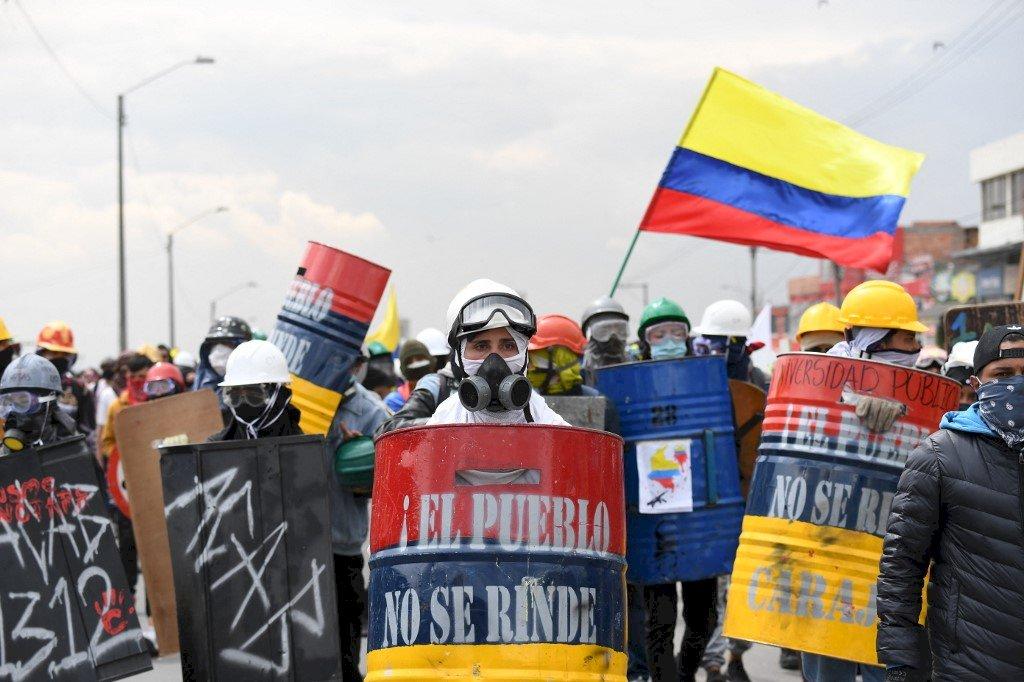 哥倫比亞反政府示威滿月 無平息跡象