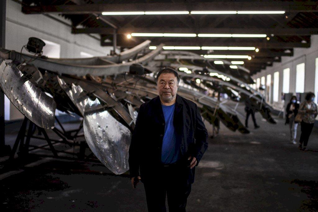 中國異議藝術家艾未未 創作展覽會六四開幕