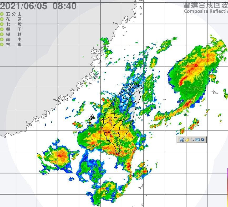 滯留鋒面影響 中南部8縣市豪雨大雨特報
