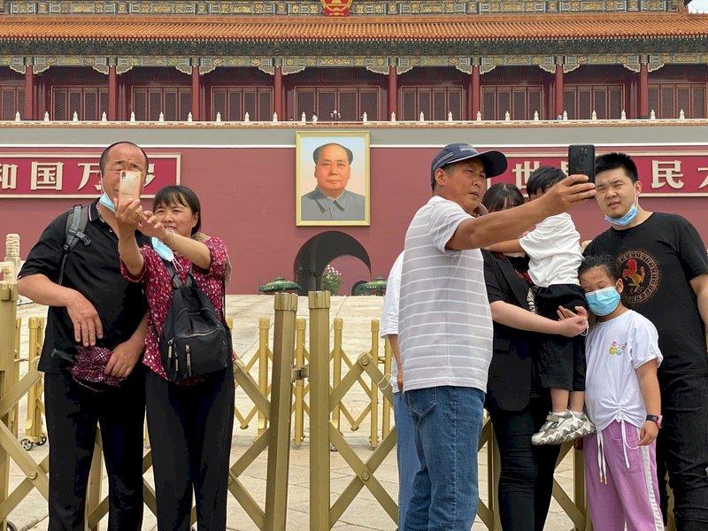 中共建黨百年在即 天安門週末舉行慶典演練