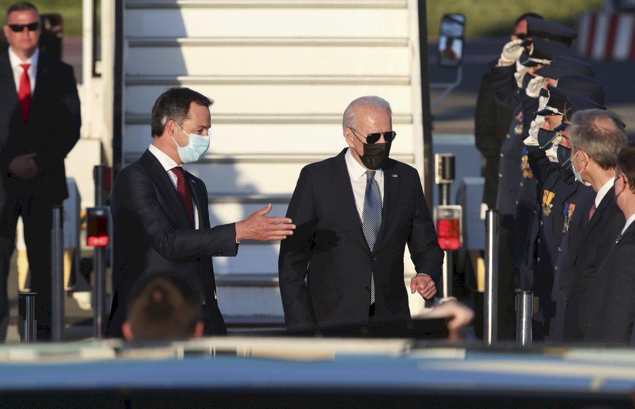 拜登抵達布魯塞爾 外交秀轉戰北約與歐盟峰會