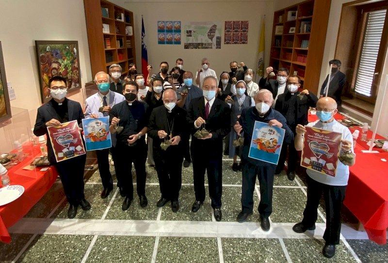 駐教廷大使館端午餐會 神父修女為台灣疫情祈禱