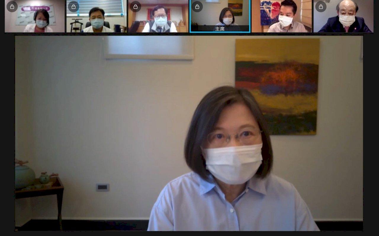 蔡英文:台灣要把疫情控制住才能在國際站穩腳步