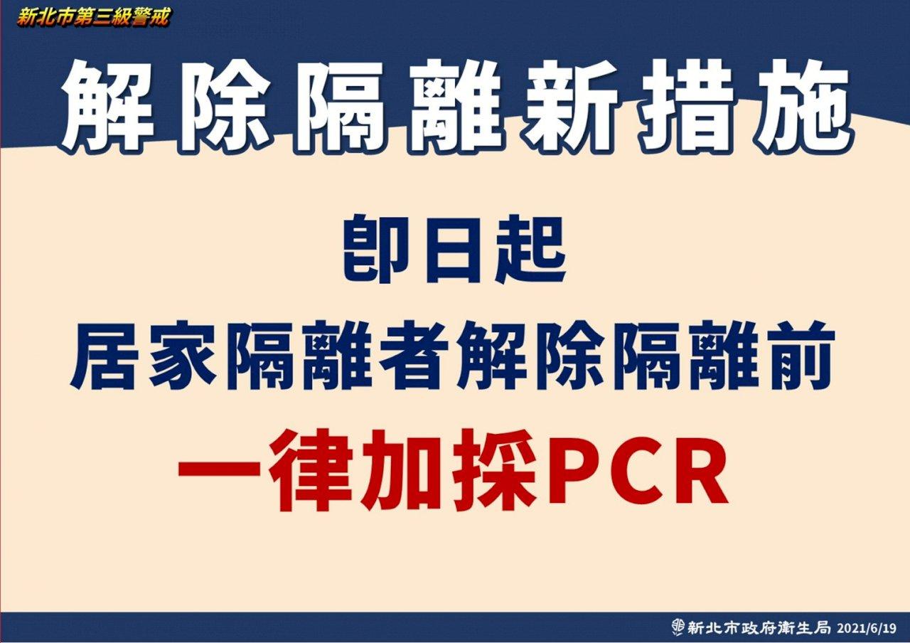 侯友宜:居家隔離解隔前 一律加採PCR檢測
