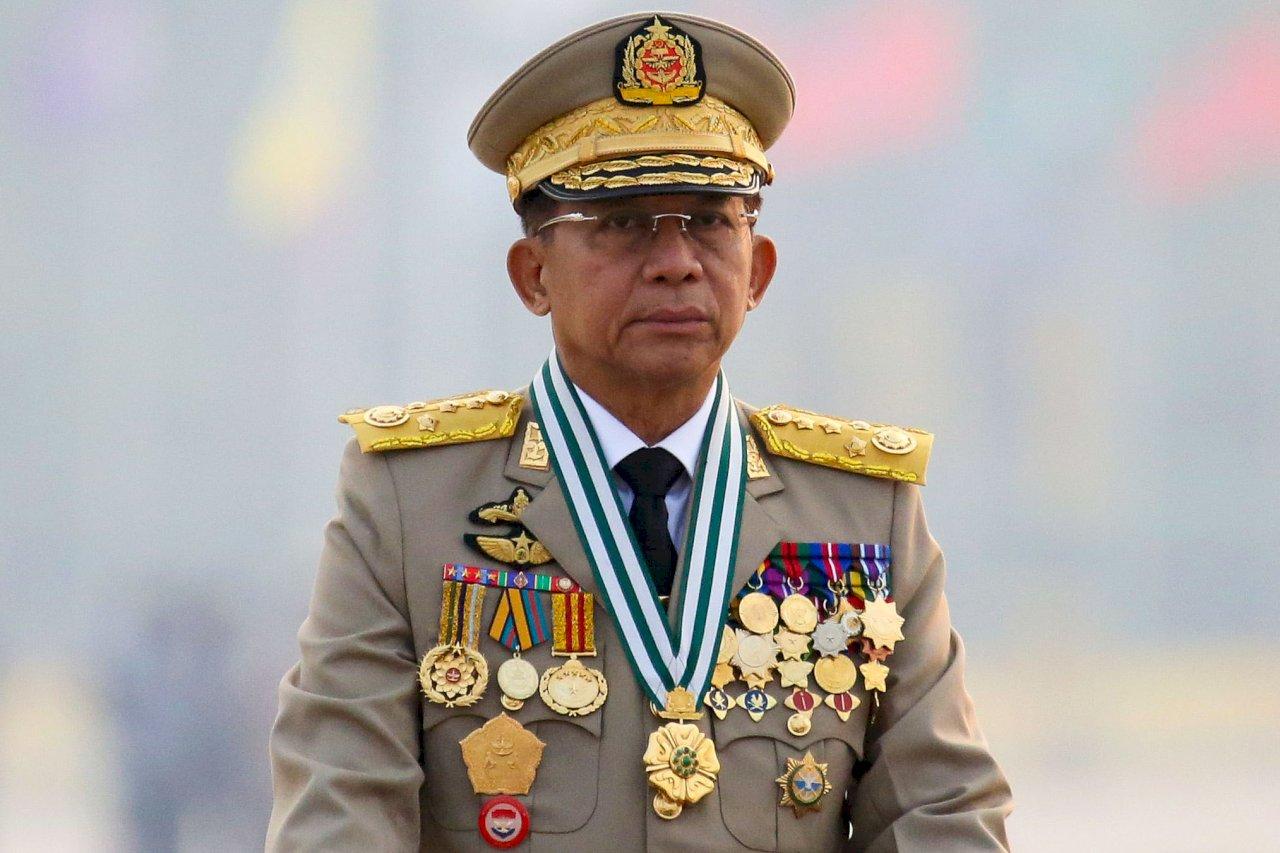 緬甸軍政府領袖敏昂萊訪俄 俄緬同意強化關係