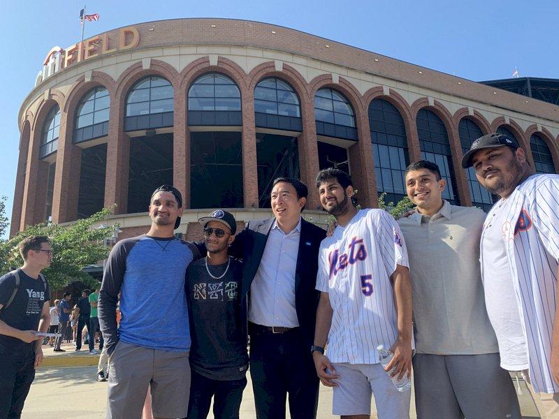 紐約市長初選倒數  楊安澤赴大都會主場催票