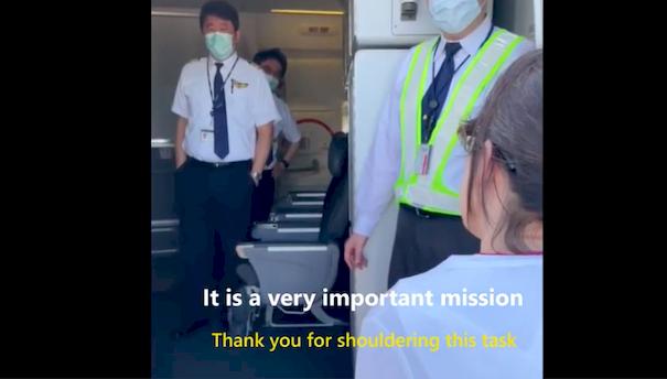 美贈台疫苗幕後運送過程曝光 蕭美琴親向機師與工作人員致謝