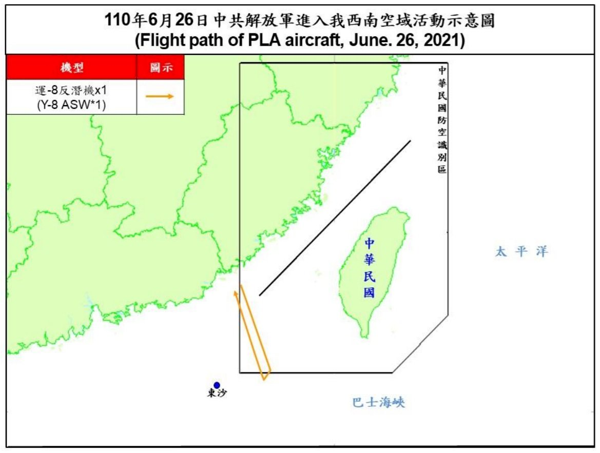 共軍運8反潛機擾台 防空飛彈追蹤監控