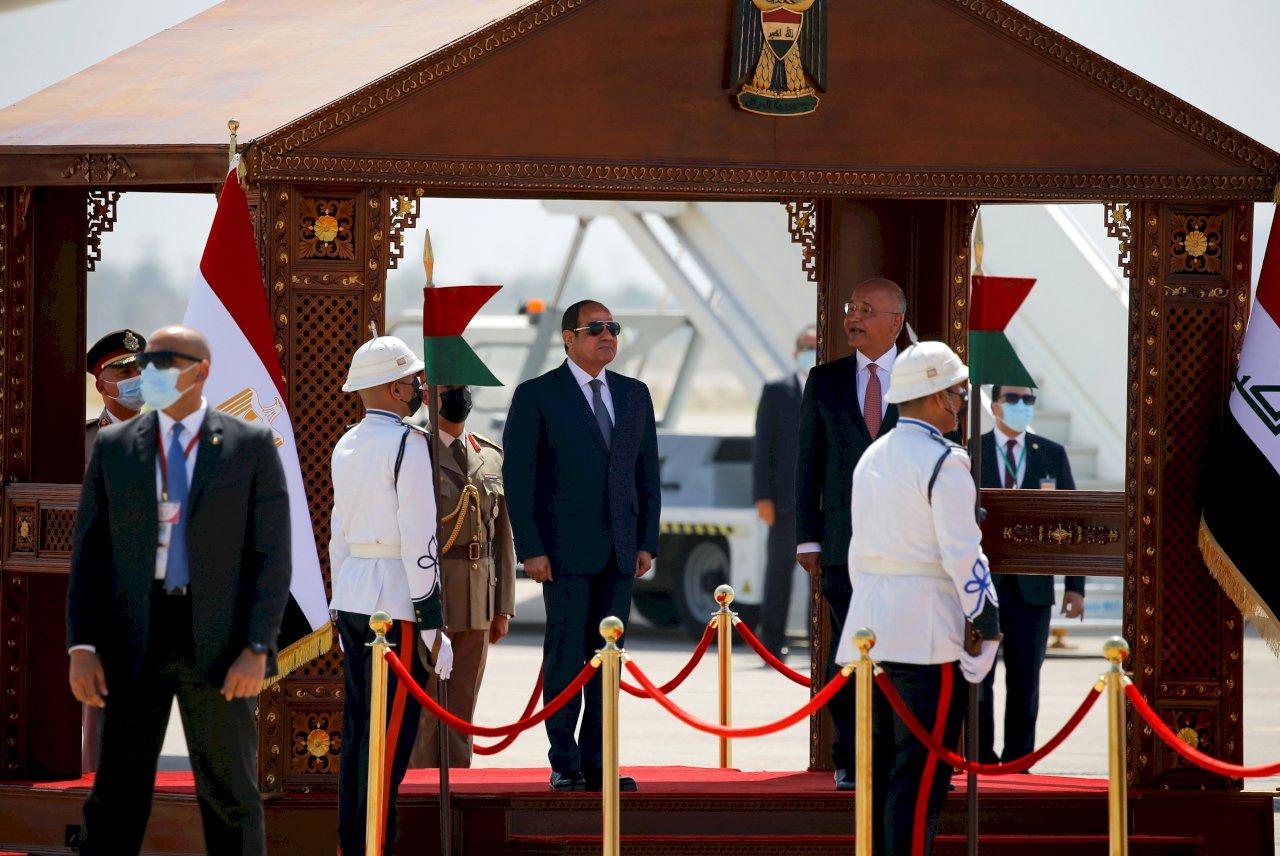 塞西抵巴格達 30年來首訪伊拉克的埃及總統
