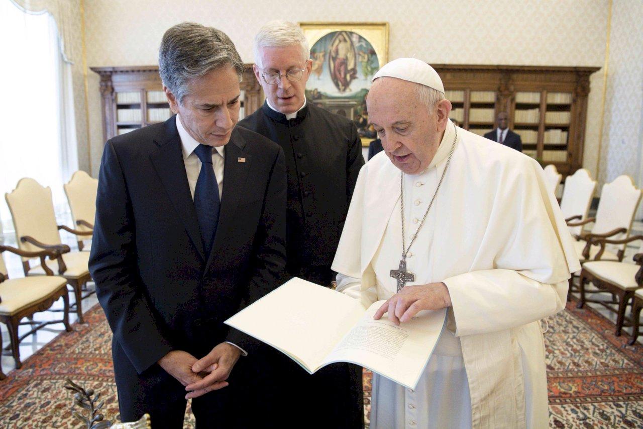 教宗與布林肯會談 教廷發言人:氣氛親切友好