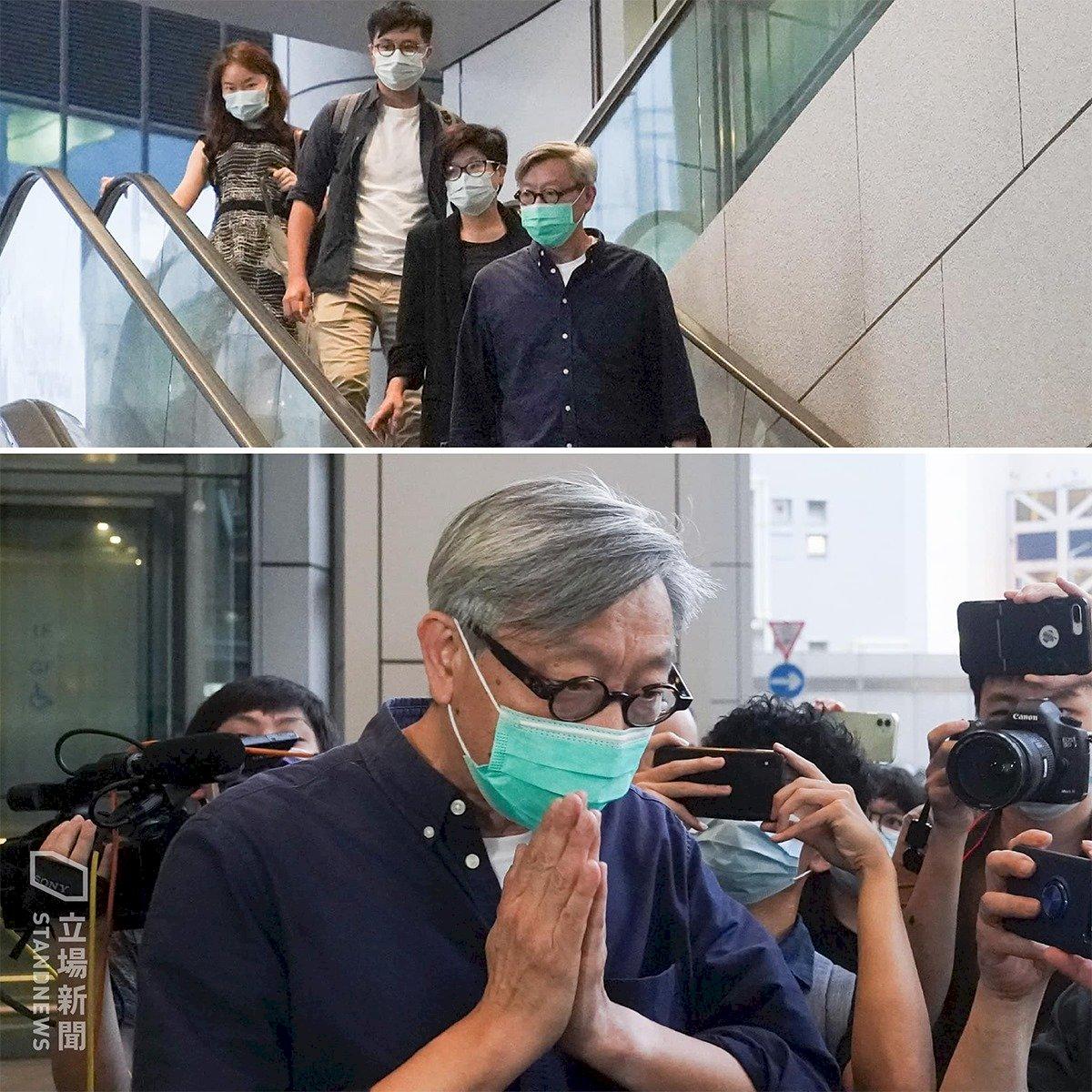 香港蘋果日報前主筆馮偉光獲交保 7月下旬警局報到