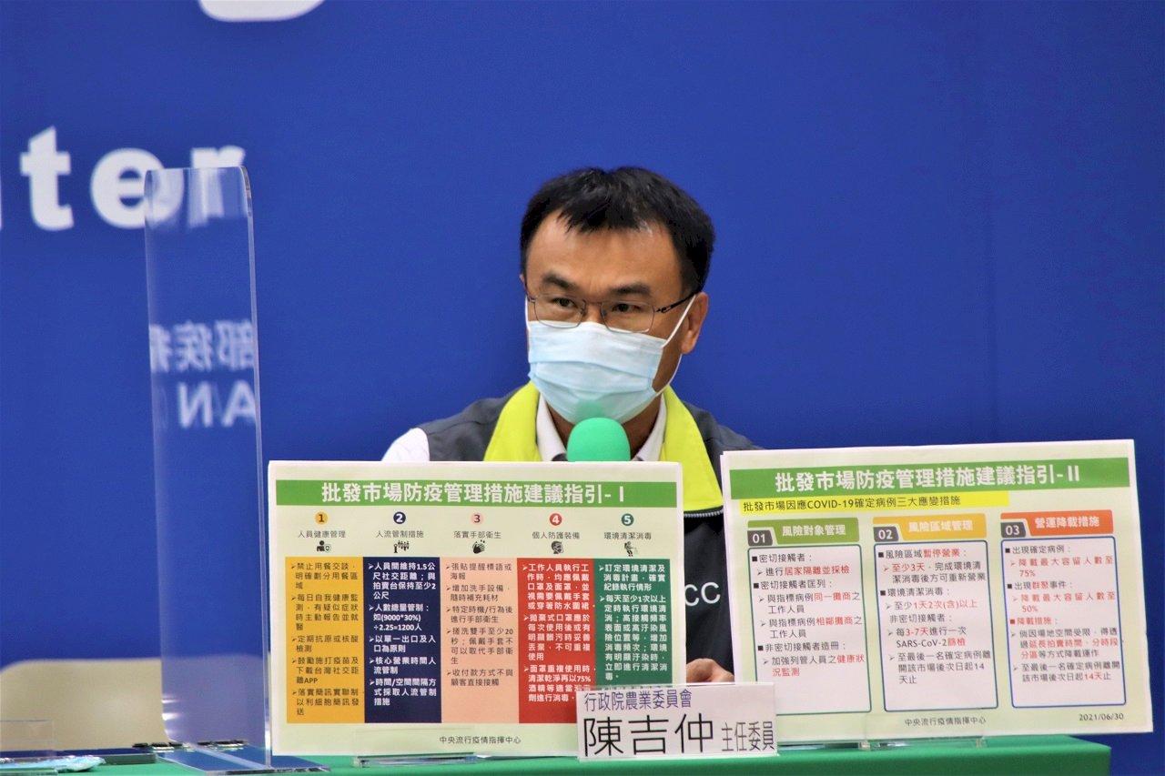 批發市場6大防疫指引 陳吉仲:最大挑戰是「降載營運」
