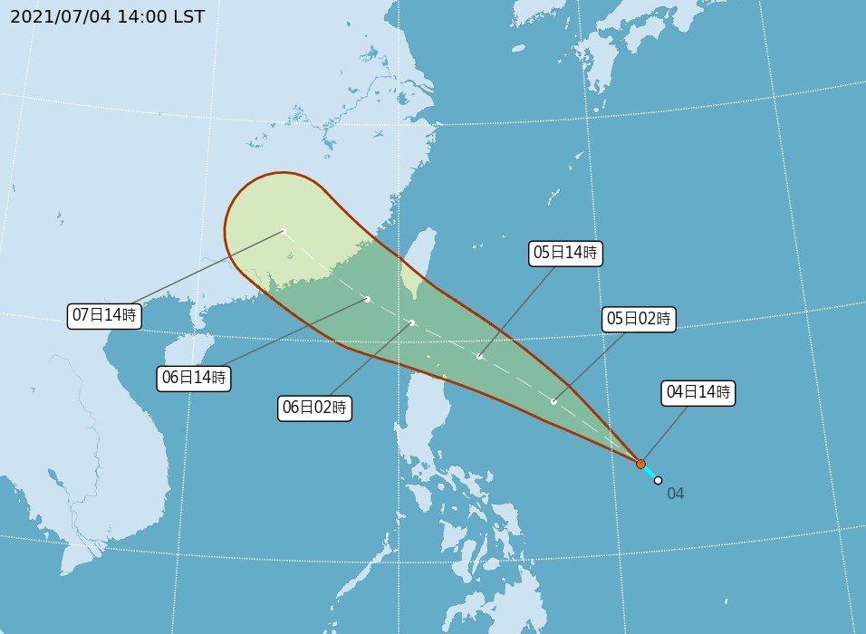 颱風烟花最快5日白天形成 恆春半島防大雨